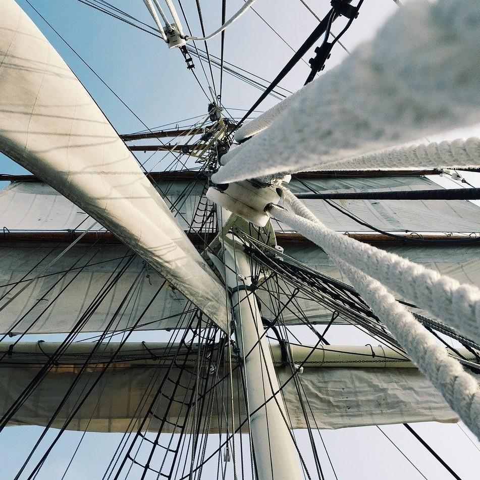 gréement, grand voilier, voiles